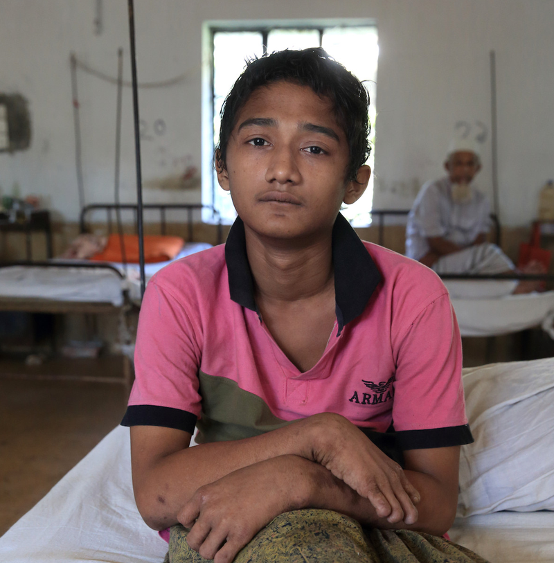 Anik, a patient at DBLM Hospital in Bangladesh
