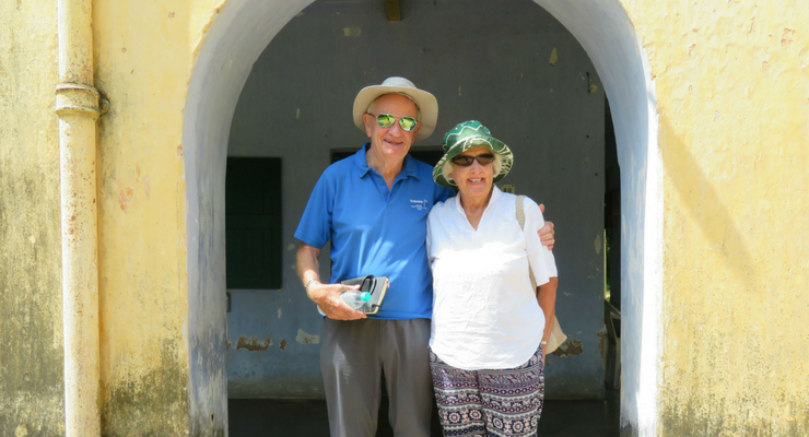Ian and Pauline Jepps on a visit to Leprosy Mission projects in India