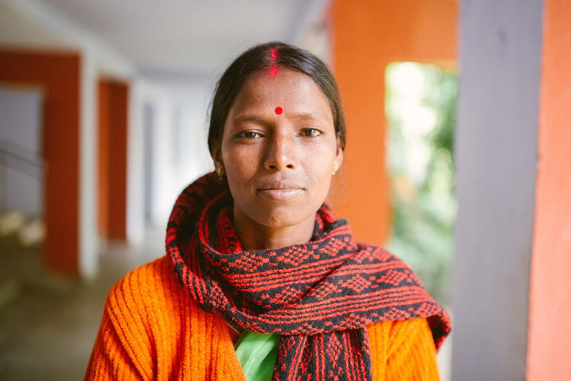 Lavanya just after she had started treatment for leprosy at Purulia Hospital in India