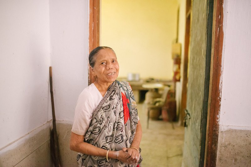 Rajobala, affected by leprosy and abandoned by her family