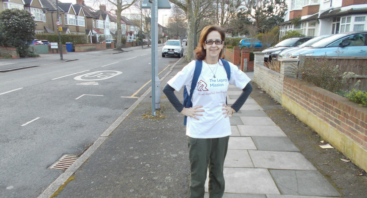 Sally Cater Esdale on her sponsored walk