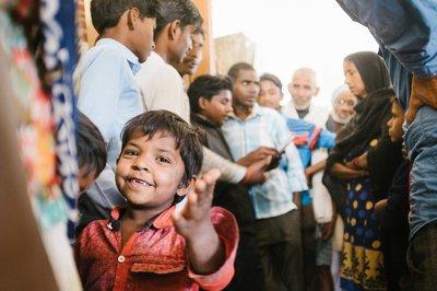 Child at skin camp in Nepal