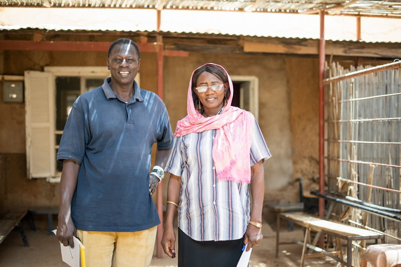 John and Seela, who work at the Aburoff Clinic.