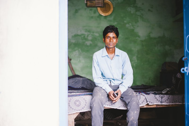 Jaseem, who has been stigmatised because he is affected by leprosy