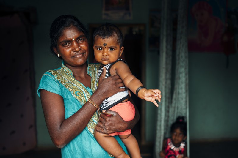 Sugnathini was diagnosed with leprosy after a screening programme in her village in Sri Lanka